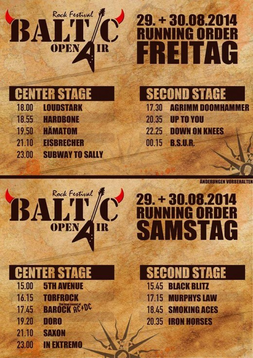Baltic RunningOrder